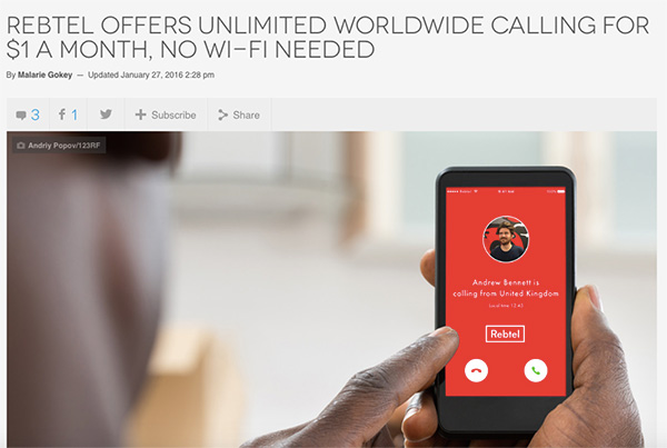 Digital Trends: Rebtel offers unlimited worldwide calling for $1 a month, no Wi-Fi needed