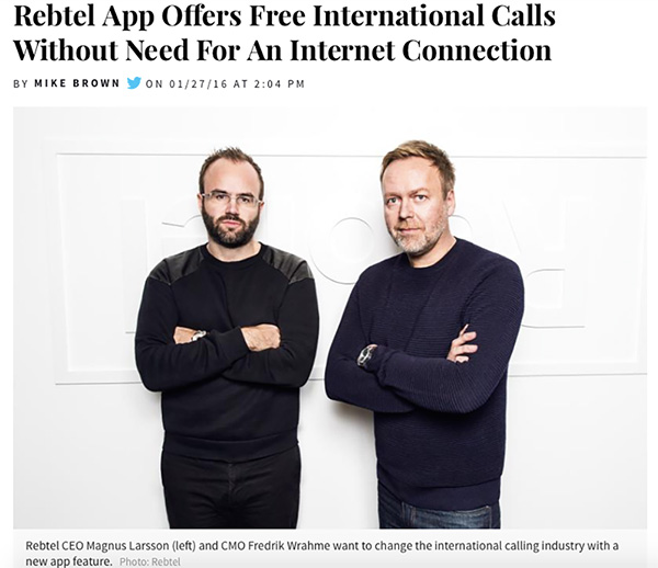 International Business Times: Rebtel App Offers Free International Calls Without Need For An Internet Connection