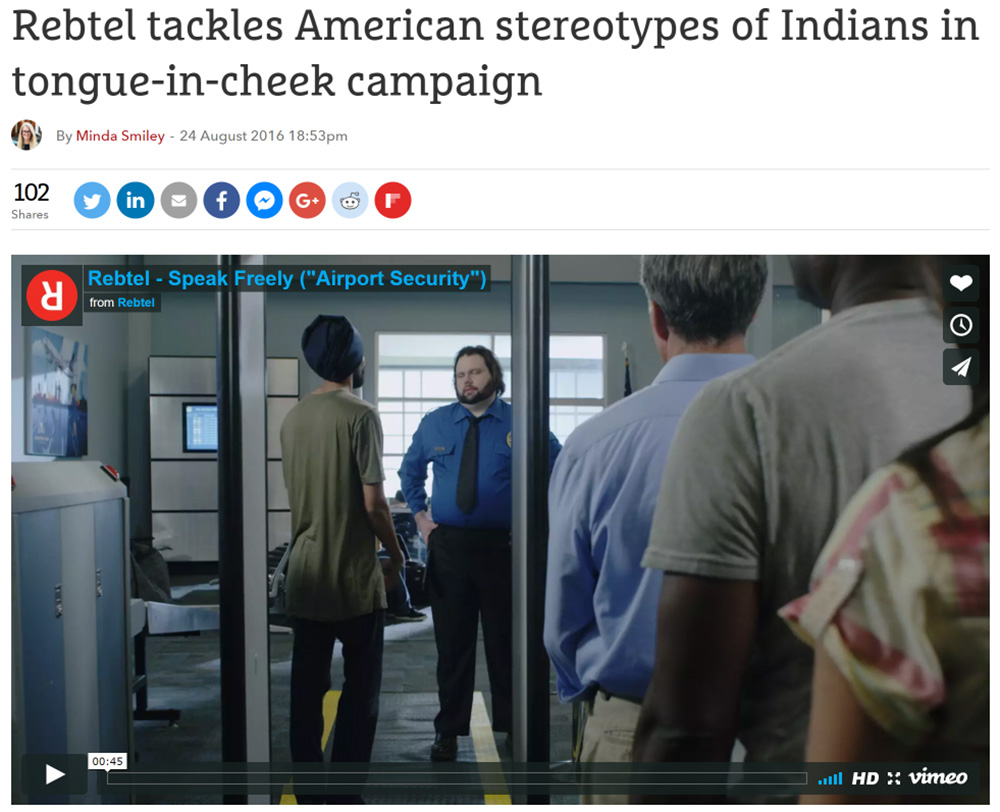 The Drum: Rebtel tackles American stereotypes of Indians in tongue-in-cheek campaign