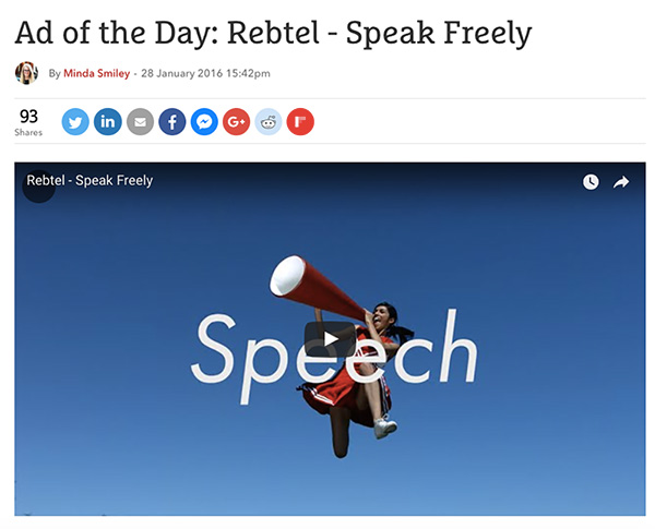 The Drum: Ad of the day - Rebtel Speak Freely