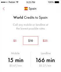 Cheap International Calling Rates | Rebtel com